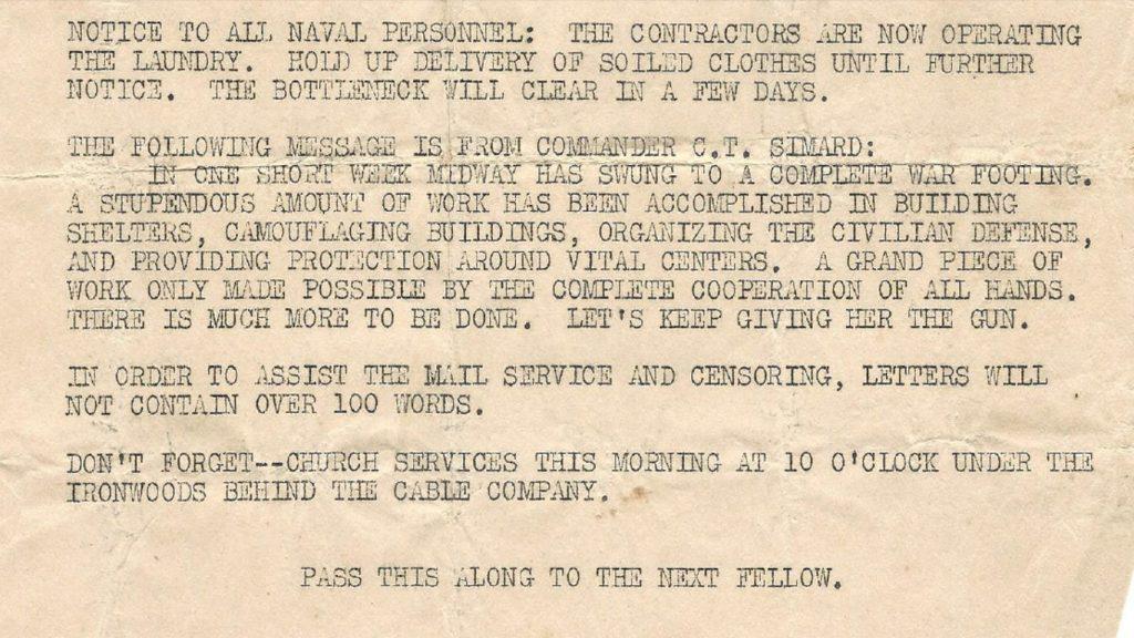 Gooney Gazette Clip from Dec 14 1941