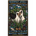 Original hand-colored block print by Hawai'i artist Caren Loebel-Fried