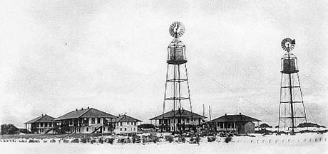 Cable Buildings on Midway Atoll in 1903
